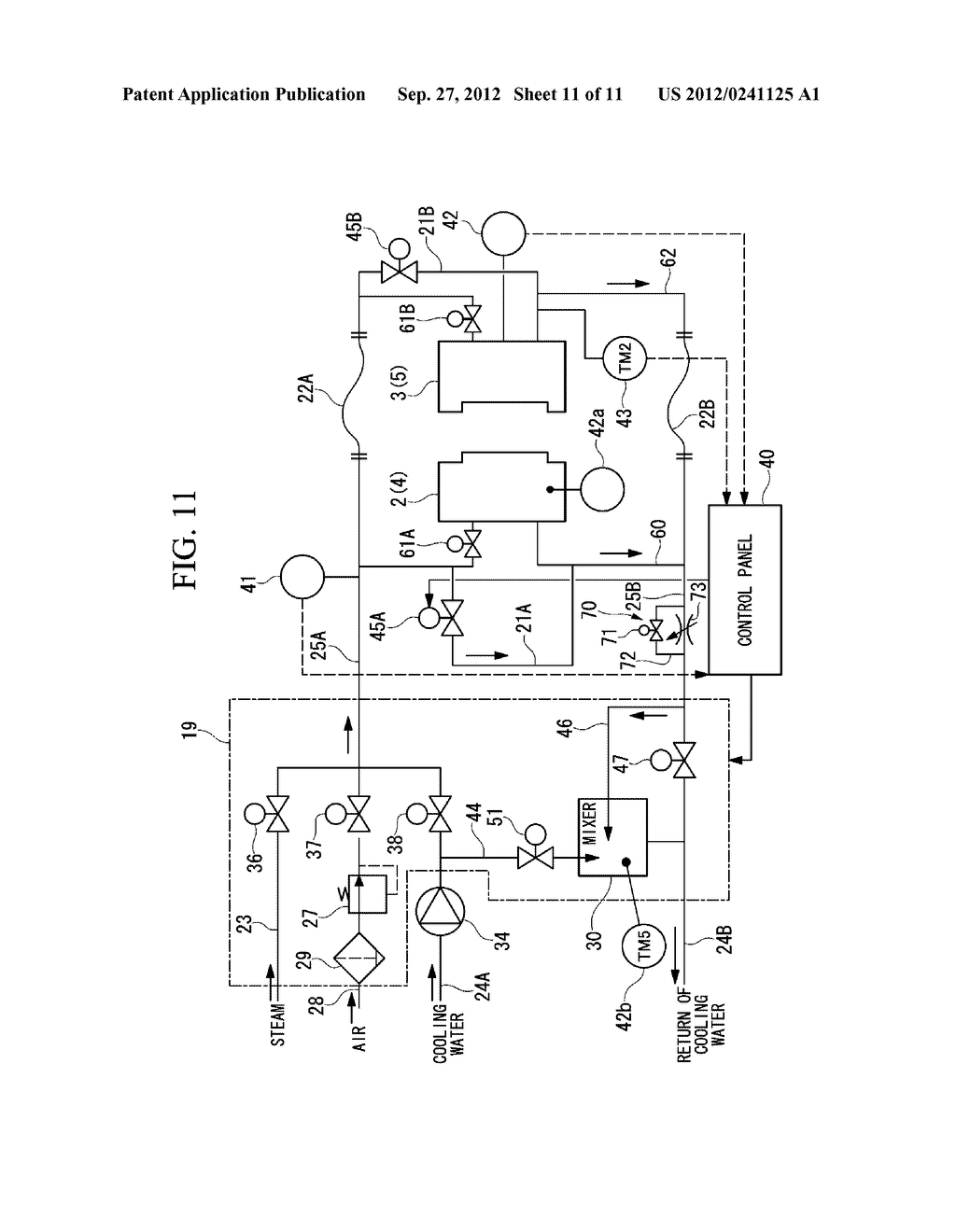 INJECTION MOLDING DEVICE AND METHOD FOR DISCHARGING HEAT MEDIUM FOR     INJECTION MOLDING DEVICE - diagram, schematic, and image 12