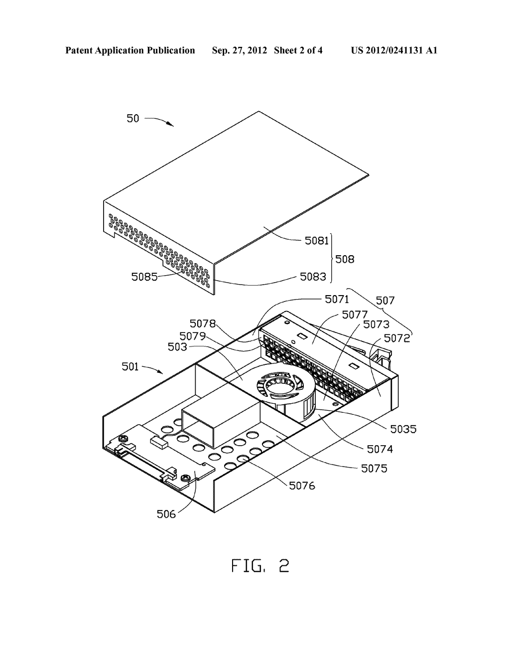 HEAT DISSIPATION DEVICE AND ELECTRONIC DEVICE HAVING SAME - diagram, schematic, and image 03