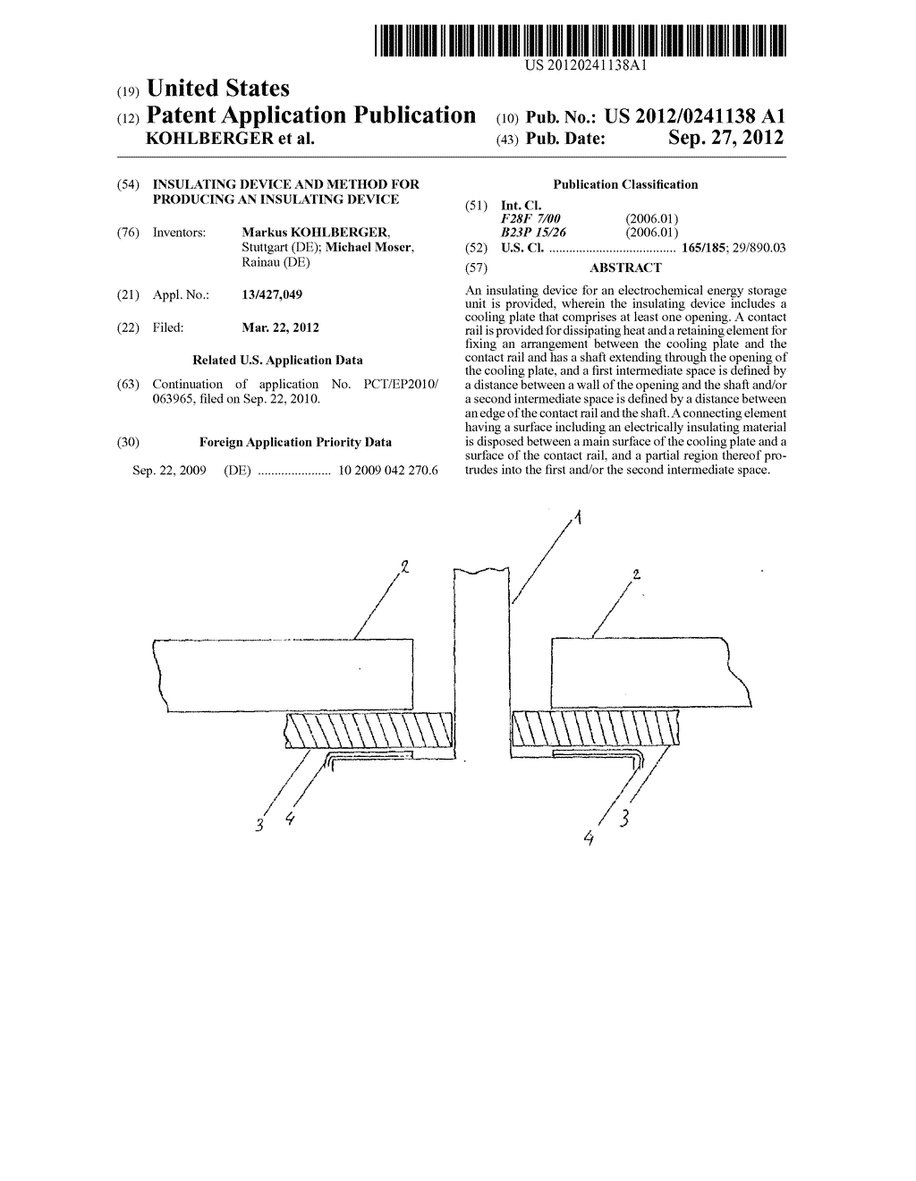 INSULATING DEVICE AND METHOD FOR PRODUCING AN INSULATING DEVICE - diagram, schematic, and image 01