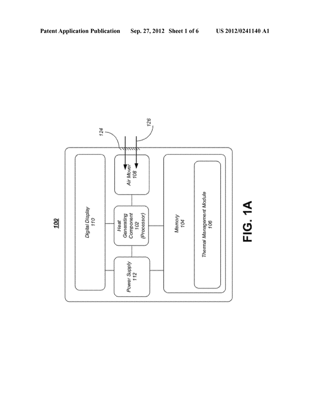 APPARATUS, SYSTEM AND METHOD FOR AIRFLOW MONITORING AND THERMAL MANAGEMENT     IN A COMPUTING DEVICE - diagram, schematic, and image 02