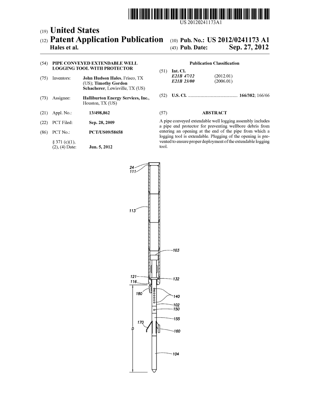 PIPE CONVEYED EXTENDABLE WELL LOGGING TOOL WITH PROTECTOR - diagram, schematic, and image 01