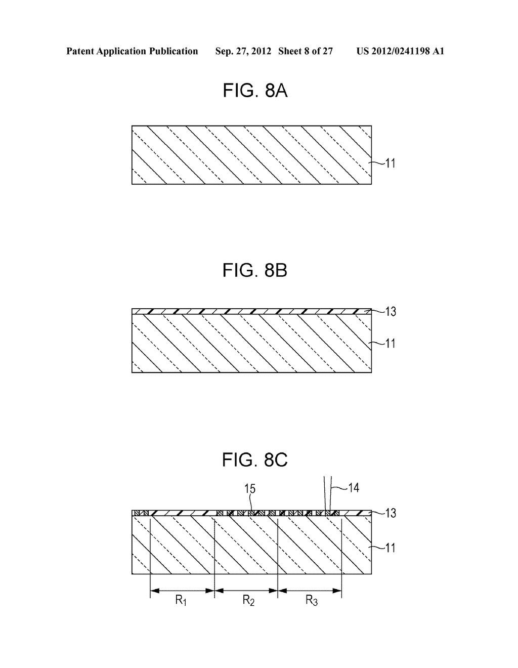 CONDUCTIVE ELEMENT AND METHOD FOR PRODUCING THE SAME, WIRING ELEMENT,     INFORMATION INPUT DEVICE, DISPLAY DEVICE, ELECTRONIC APPARATUS, AND     MASTER - diagram, schematic, and image 09