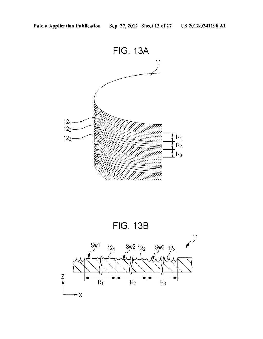 CONDUCTIVE ELEMENT AND METHOD FOR PRODUCING THE SAME, WIRING ELEMENT,     INFORMATION INPUT DEVICE, DISPLAY DEVICE, ELECTRONIC APPARATUS, AND     MASTER - diagram, schematic, and image 14