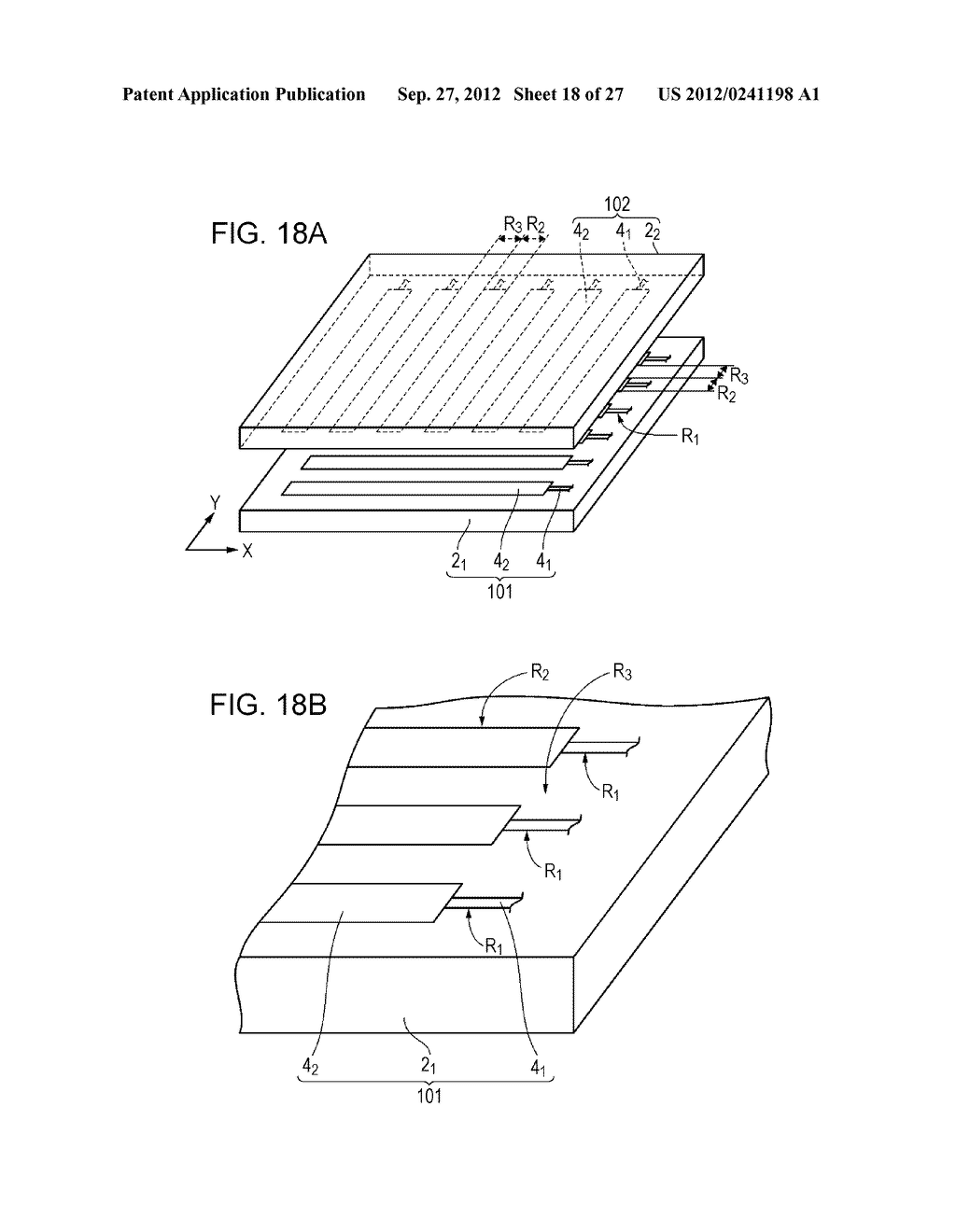 CONDUCTIVE ELEMENT AND METHOD FOR PRODUCING THE SAME, WIRING ELEMENT,     INFORMATION INPUT DEVICE, DISPLAY DEVICE, ELECTRONIC APPARATUS, AND     MASTER - diagram, schematic, and image 19