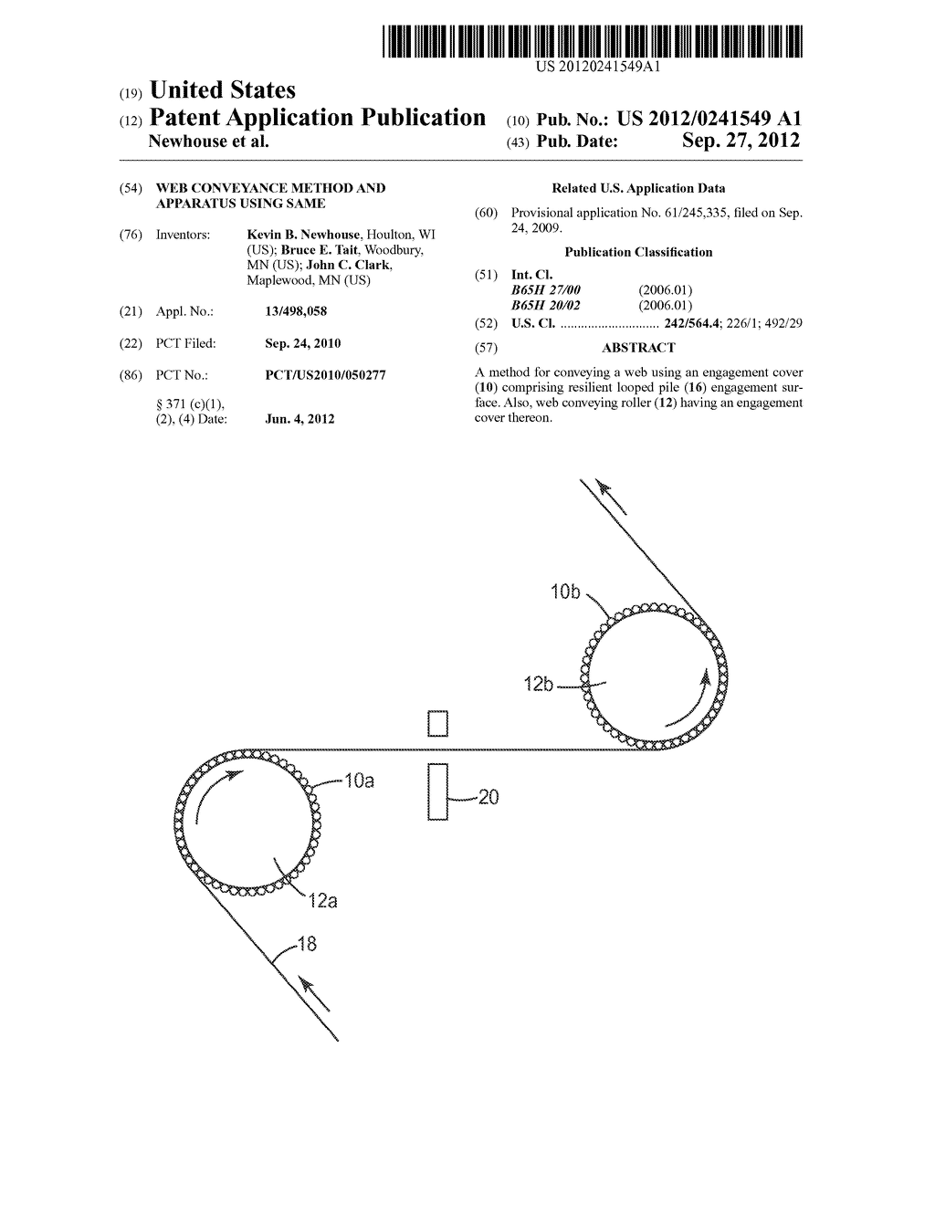 WEB CONVEYANCE METHOD AND APPARATUS USING SAME - diagram, schematic, and image 01