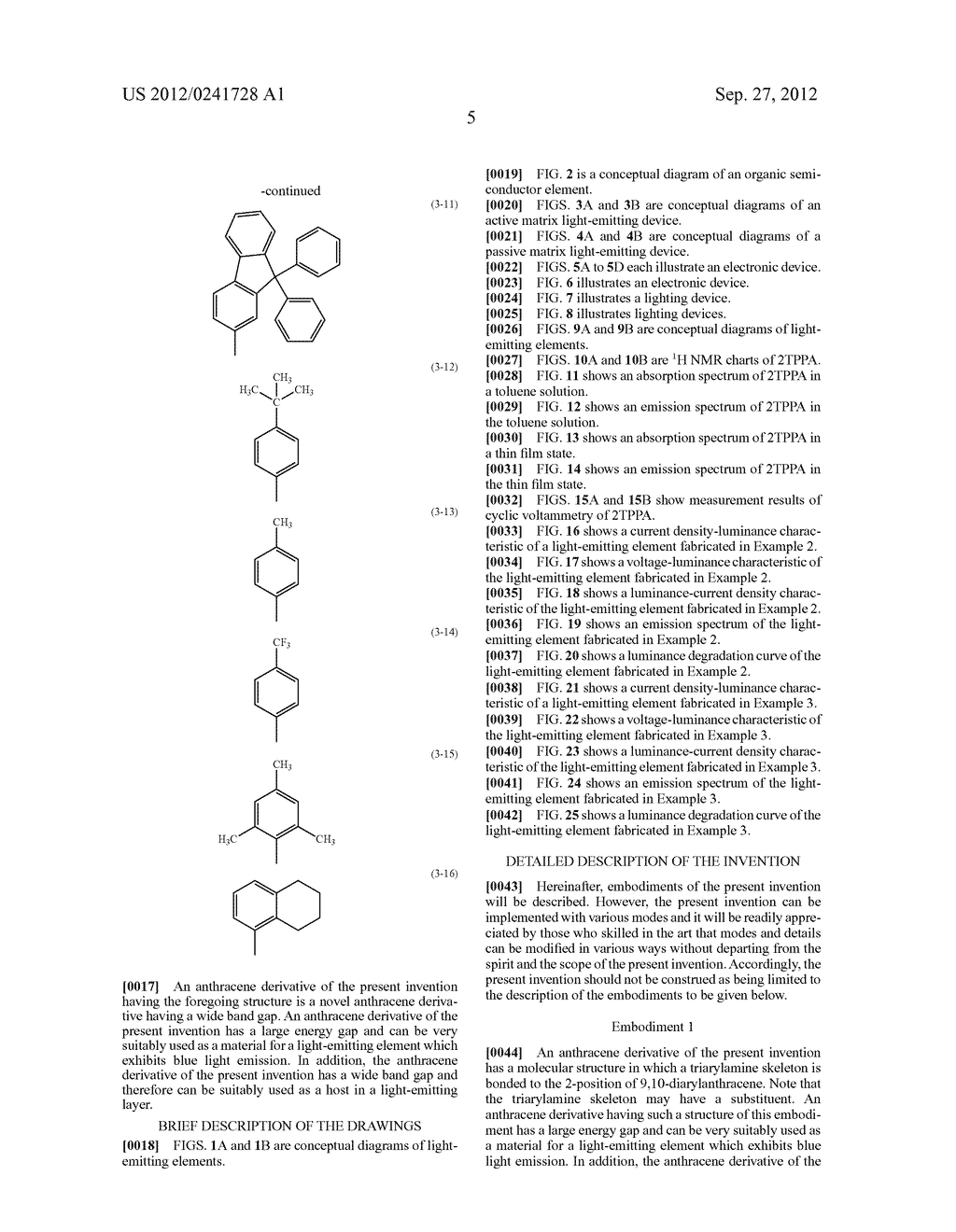 Anthracene Derivative, Light-Emitting Material, Material for     Light-Emitting Element, Composition for Coating, Light-Emitting Element,     Light-Emitting Device, and Electronic Device - diagram, schematic, and image 27