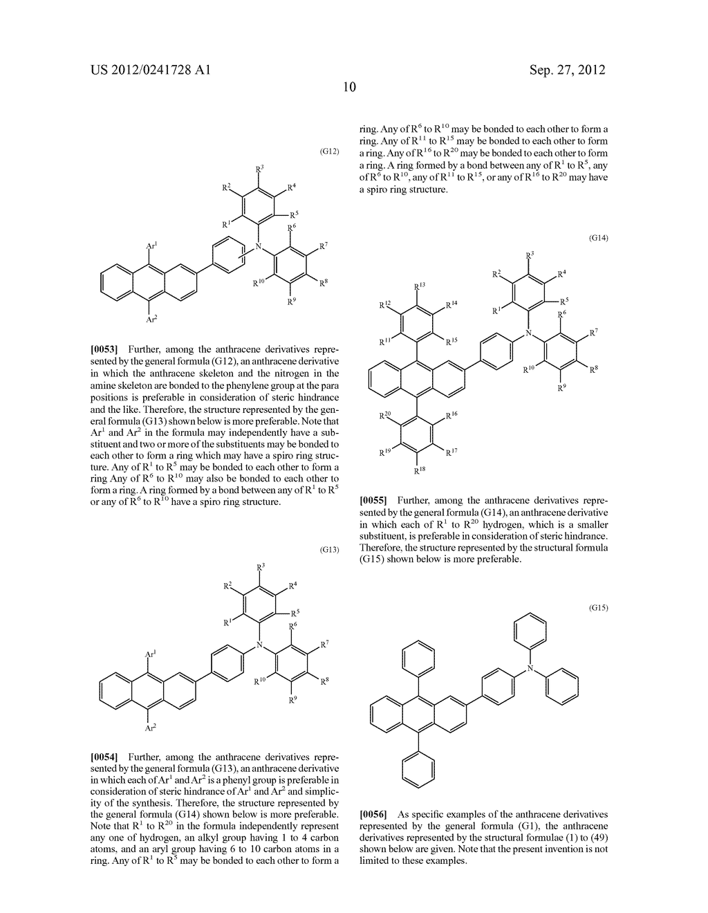 Anthracene Derivative, Light-Emitting Material, Material for     Light-Emitting Element, Composition for Coating, Light-Emitting Element,     Light-Emitting Device, and Electronic Device - diagram, schematic, and image 32