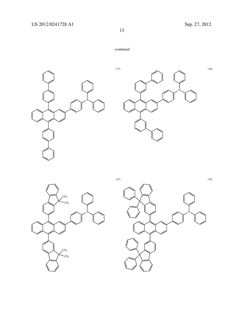 Anthracene Derivative, Light-Emitting Material, Material for     Light-Emitting Element, Composition for Coating, Light-Emitting Element,     Light-Emitting Device, and Electronic Device - diagram, schematic, and image 35