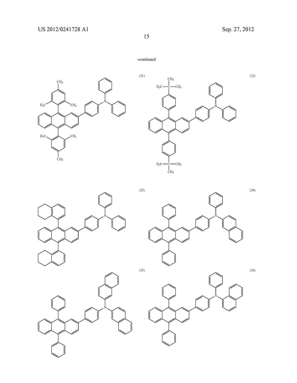 Anthracene Derivative, Light-Emitting Material, Material for     Light-Emitting Element, Composition for Coating, Light-Emitting Element,     Light-Emitting Device, and Electronic Device - diagram, schematic, and image 37