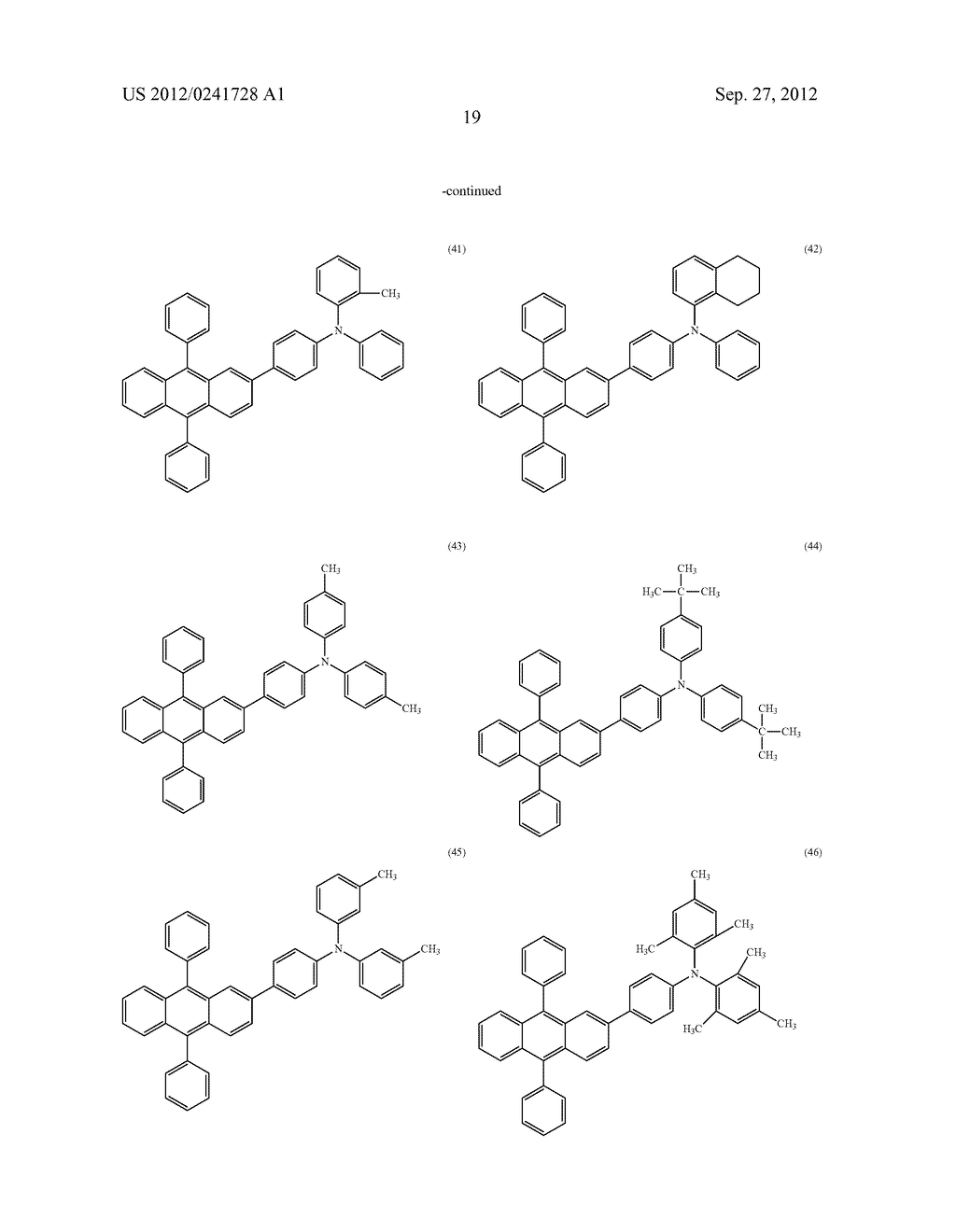 Anthracene Derivative, Light-Emitting Material, Material for     Light-Emitting Element, Composition for Coating, Light-Emitting Element,     Light-Emitting Device, and Electronic Device - diagram, schematic, and image 41