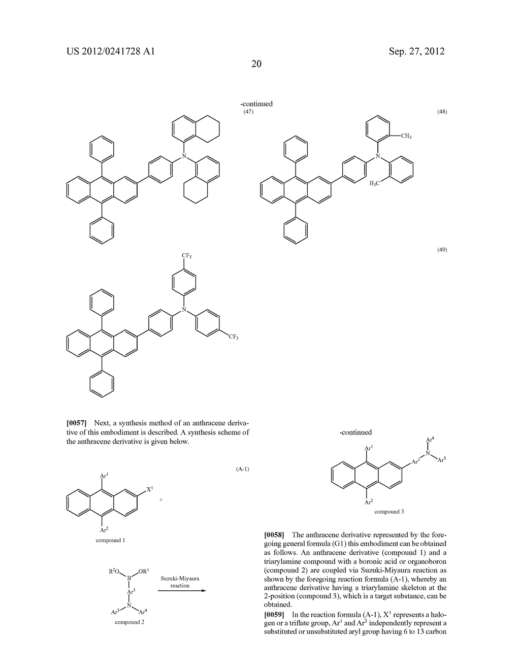 Anthracene Derivative, Light-Emitting Material, Material for     Light-Emitting Element, Composition for Coating, Light-Emitting Element,     Light-Emitting Device, and Electronic Device - diagram, schematic, and image 42