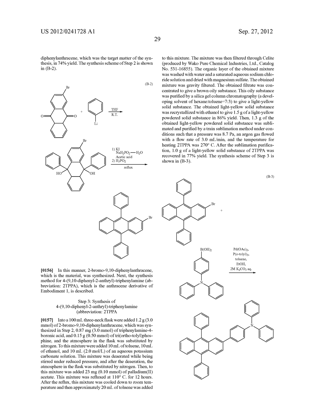 Anthracene Derivative, Light-Emitting Material, Material for     Light-Emitting Element, Composition for Coating, Light-Emitting Element,     Light-Emitting Device, and Electronic Device - diagram, schematic, and image 51