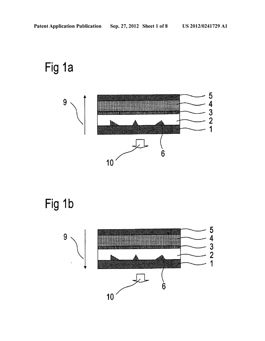 Optoelectronic Organic Component and Method for the Production Thereof - diagram, schematic, and image 02