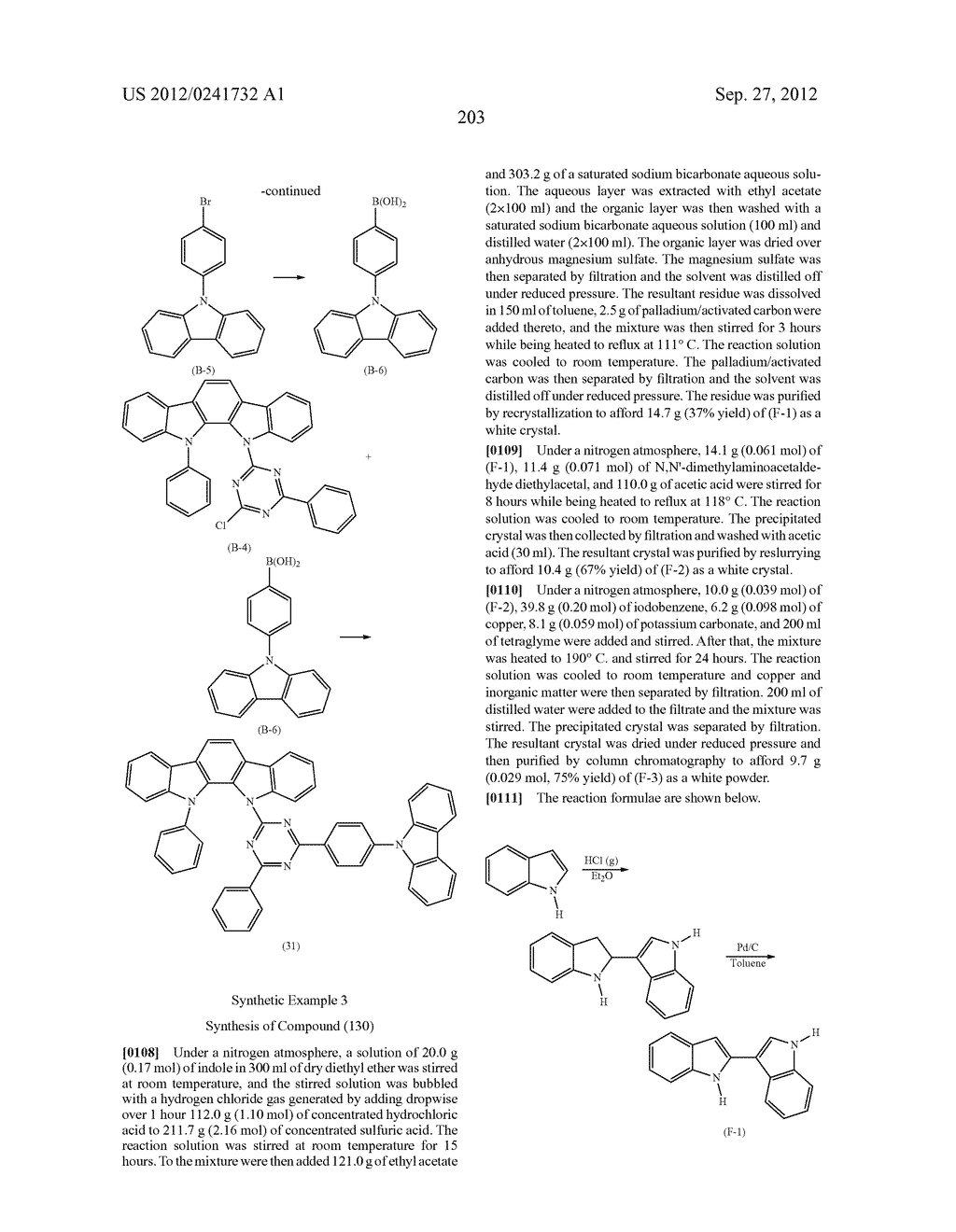ORGANIC LIGHT-EMITTING MATERIAL AND ORGANIC LIGHT-EMITTING ELEMENT - diagram, schematic, and image 205