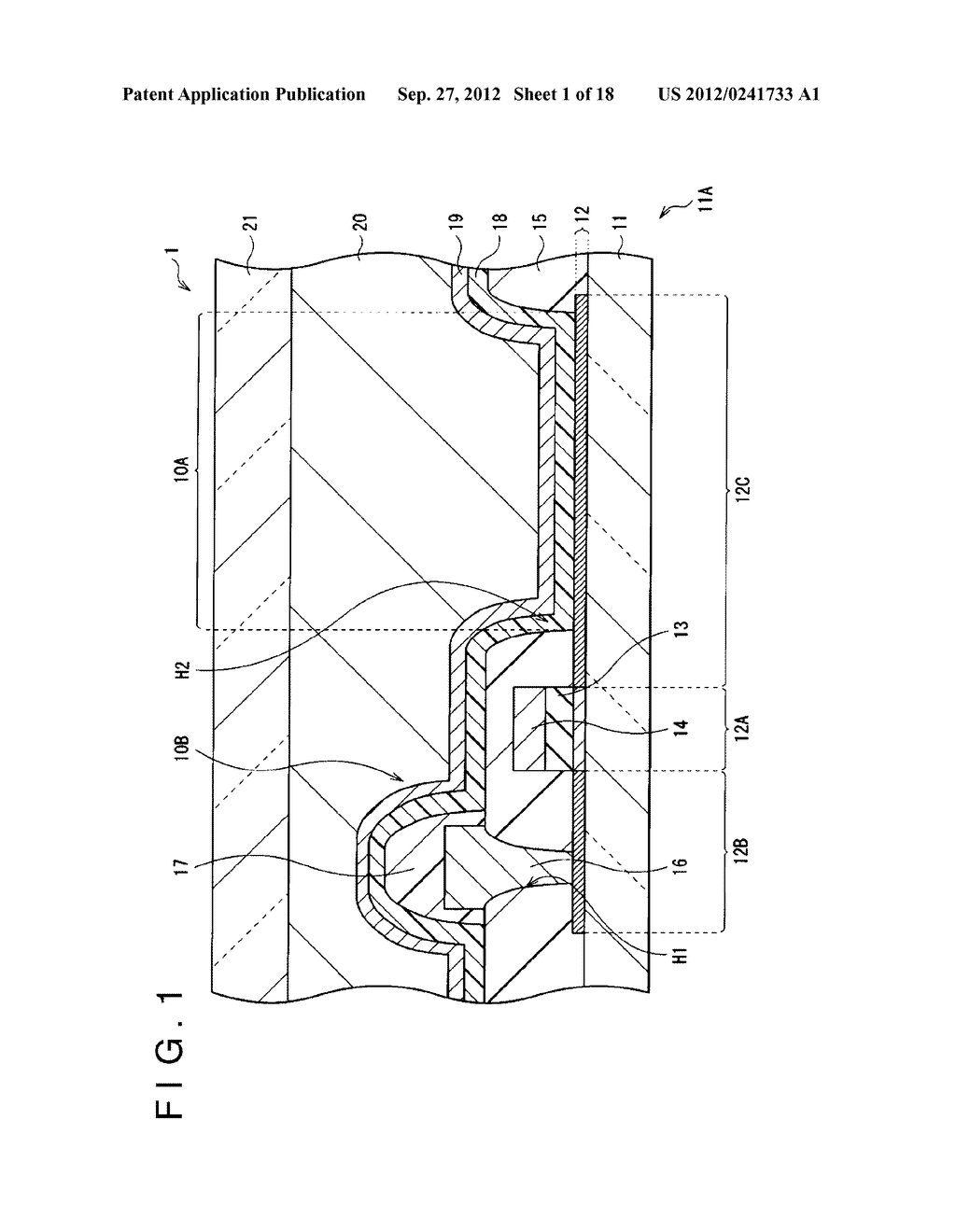 DISPLAY DEVICE, MANUFACTURING METHOD OF THE SAME AND ELECTRONIC EQUIPMENT     HAVING THE SAME - diagram, schematic, and image 02