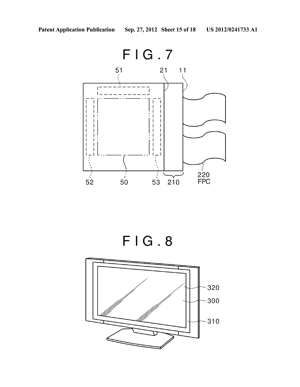 DISPLAY DEVICE, MANUFACTURING METHOD OF THE SAME AND ELECTRONIC EQUIPMENT     HAVING THE SAME - diagram, schematic, and image 16