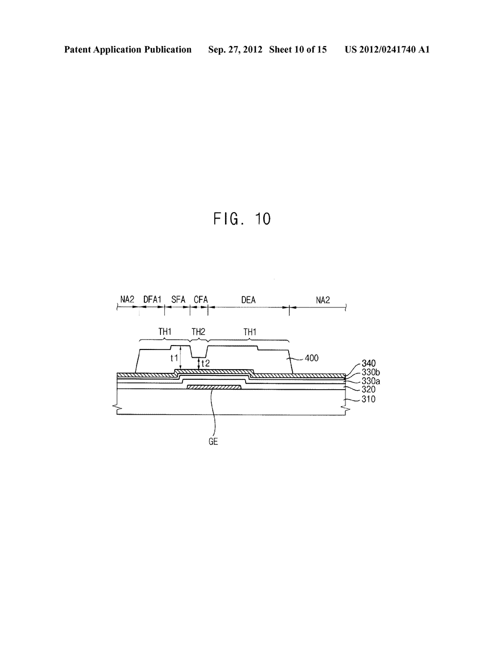 METHOD OF FORMING A PHOTOSENSITIVE PATTERN, METHOD OF MANUFACTURING A     DISPLAY SUBSTRATE, AND DISPLAY SUBSTRATE - diagram, schematic, and image 11