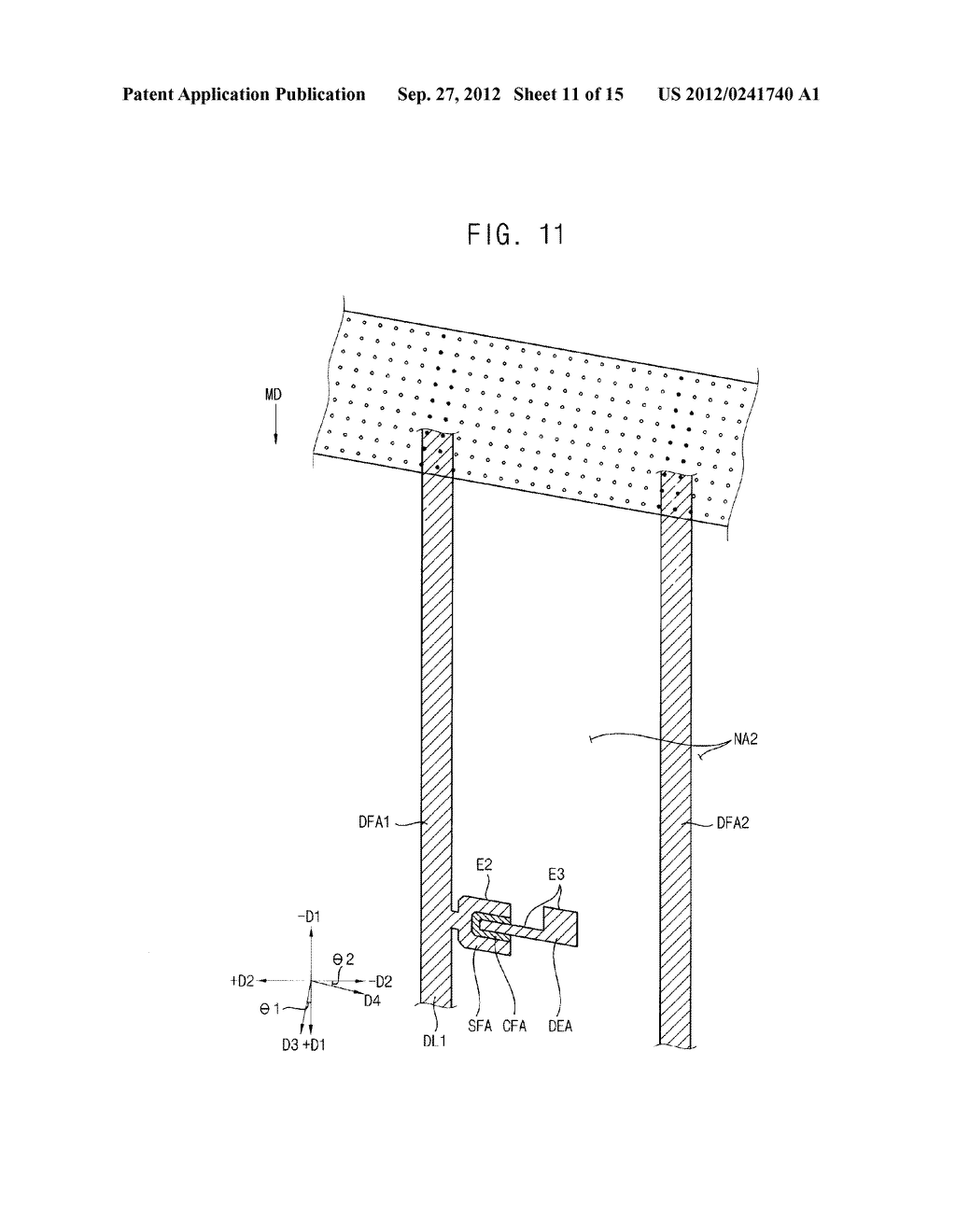 METHOD OF FORMING A PHOTOSENSITIVE PATTERN, METHOD OF MANUFACTURING A     DISPLAY SUBSTRATE, AND DISPLAY SUBSTRATE - diagram, schematic, and image 12
