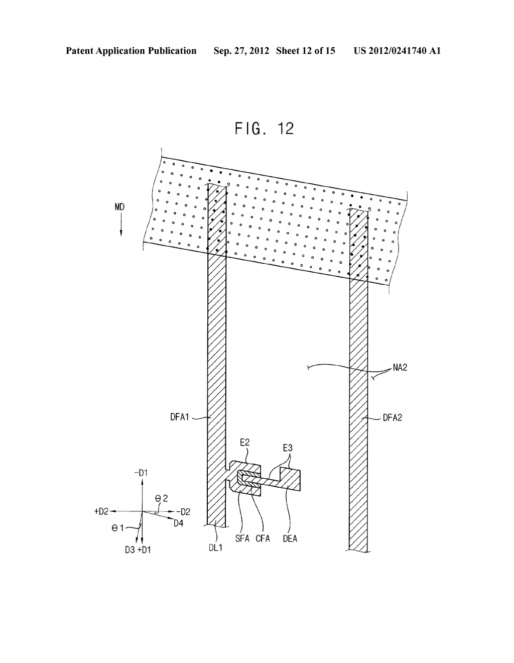 METHOD OF FORMING A PHOTOSENSITIVE PATTERN, METHOD OF MANUFACTURING A     DISPLAY SUBSTRATE, AND DISPLAY SUBSTRATE - diagram, schematic, and image 13
