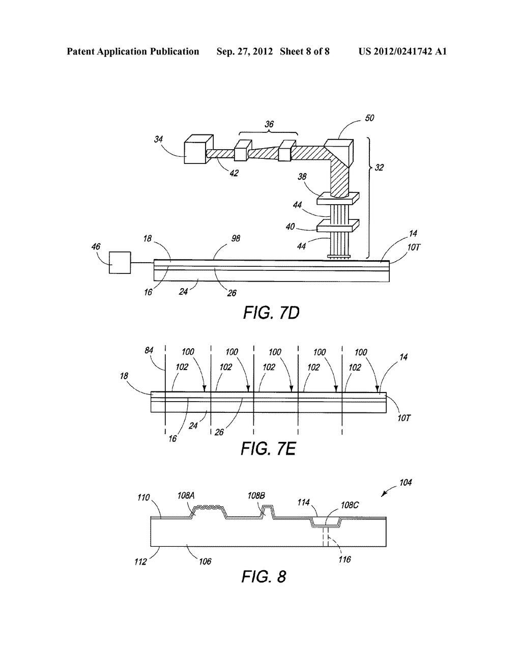 THINNED SEMICONDUCTOR COMPONENTS HAVING LASERED FEATURES AND METHOD OF     FABRICATION - diagram, schematic, and image 09