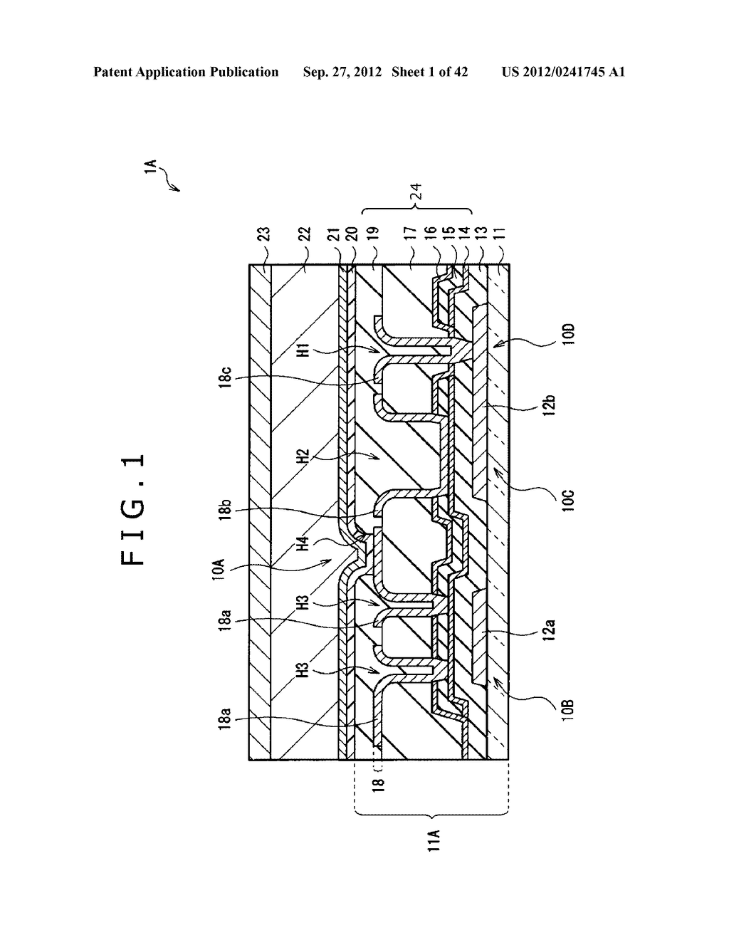 DISPLAY DEVICE, MANUFACTURING METHOD OF DISPLAY DEVICE AND ELECTRONIC     EQUIPMENT - diagram, schematic, and image 02
