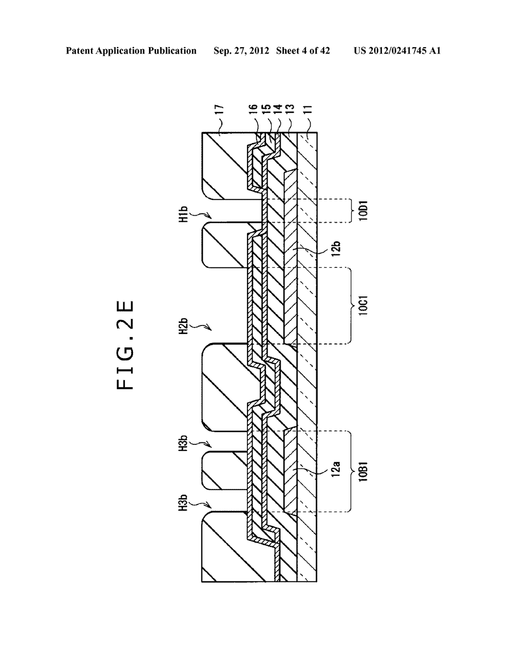 DISPLAY DEVICE, MANUFACTURING METHOD OF DISPLAY DEVICE AND ELECTRONIC     EQUIPMENT - diagram, schematic, and image 05