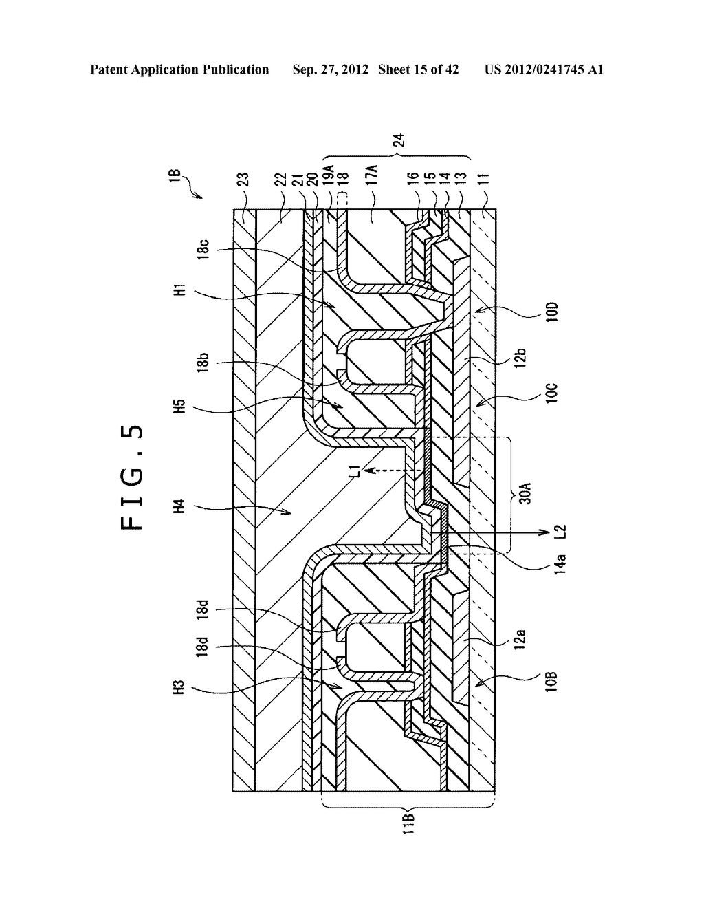 DISPLAY DEVICE, MANUFACTURING METHOD OF DISPLAY DEVICE AND ELECTRONIC     EQUIPMENT - diagram, schematic, and image 16