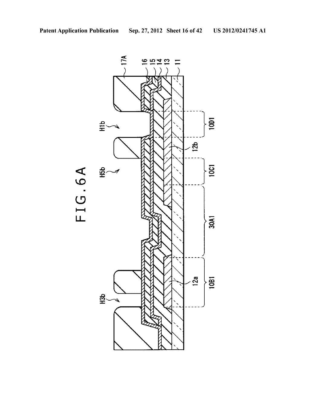 DISPLAY DEVICE, MANUFACTURING METHOD OF DISPLAY DEVICE AND ELECTRONIC     EQUIPMENT - diagram, schematic, and image 17