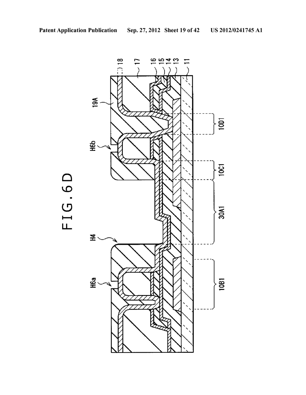 DISPLAY DEVICE, MANUFACTURING METHOD OF DISPLAY DEVICE AND ELECTRONIC     EQUIPMENT - diagram, schematic, and image 20