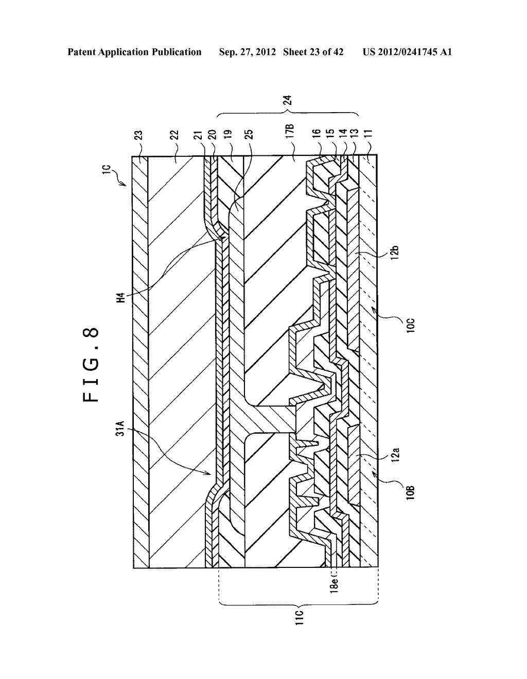 DISPLAY DEVICE, MANUFACTURING METHOD OF DISPLAY DEVICE AND ELECTRONIC     EQUIPMENT - diagram, schematic, and image 24