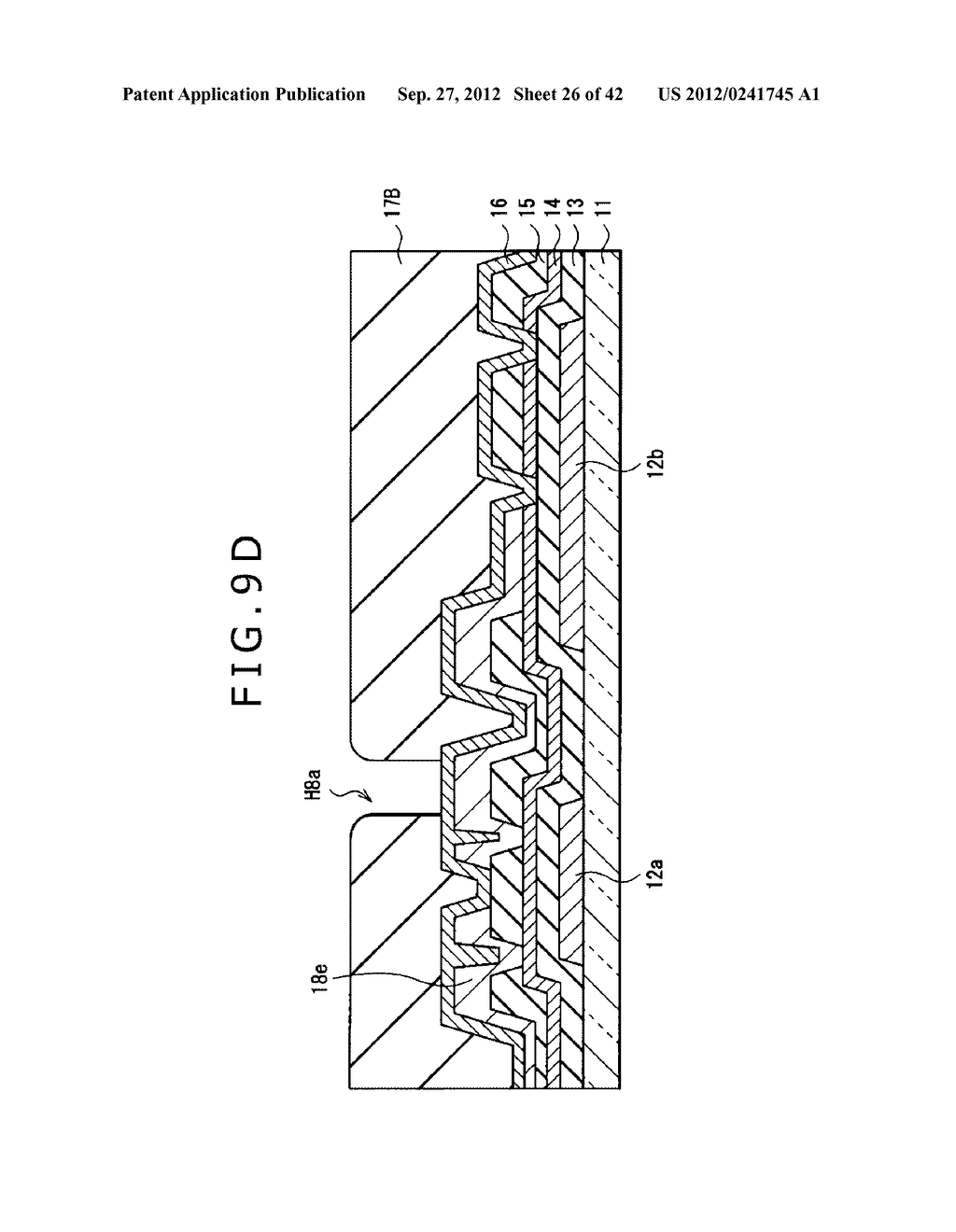 DISPLAY DEVICE, MANUFACTURING METHOD OF DISPLAY DEVICE AND ELECTRONIC     EQUIPMENT - diagram, schematic, and image 27