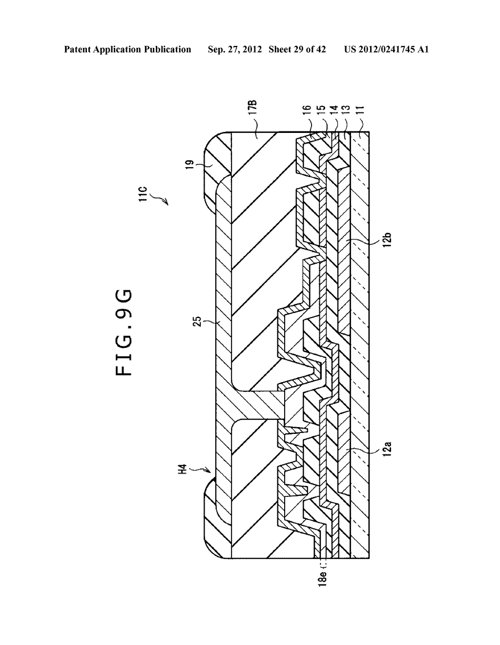 DISPLAY DEVICE, MANUFACTURING METHOD OF DISPLAY DEVICE AND ELECTRONIC     EQUIPMENT - diagram, schematic, and image 30