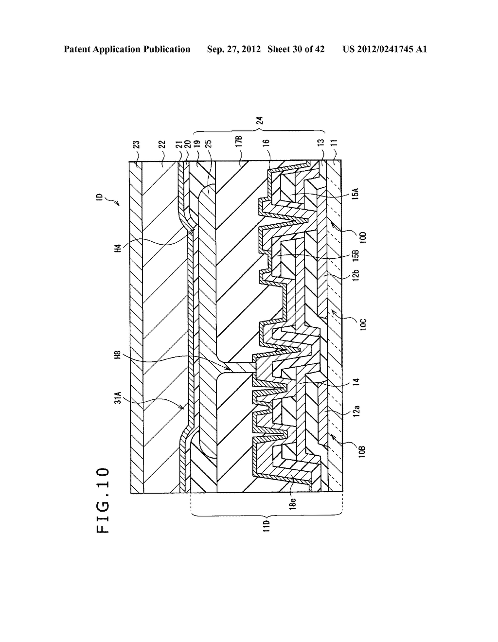 DISPLAY DEVICE, MANUFACTURING METHOD OF DISPLAY DEVICE AND ELECTRONIC     EQUIPMENT - diagram, schematic, and image 31
