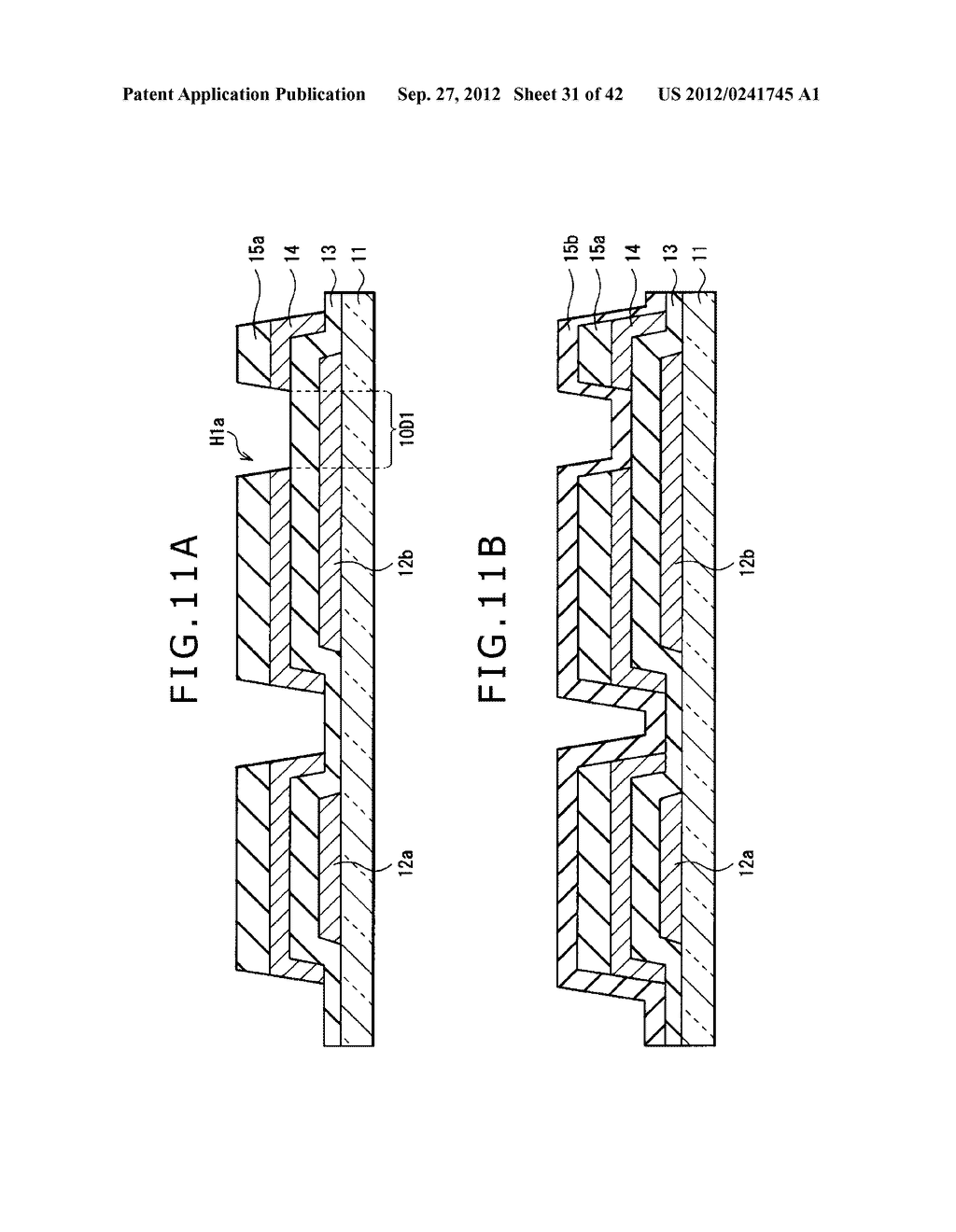 DISPLAY DEVICE, MANUFACTURING METHOD OF DISPLAY DEVICE AND ELECTRONIC     EQUIPMENT - diagram, schematic, and image 32