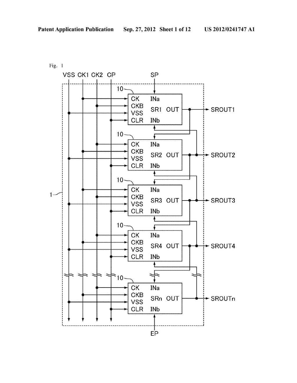 SHIFT REGISTER AND DISPLAY APPARATUS - diagram, schematic, and image 02