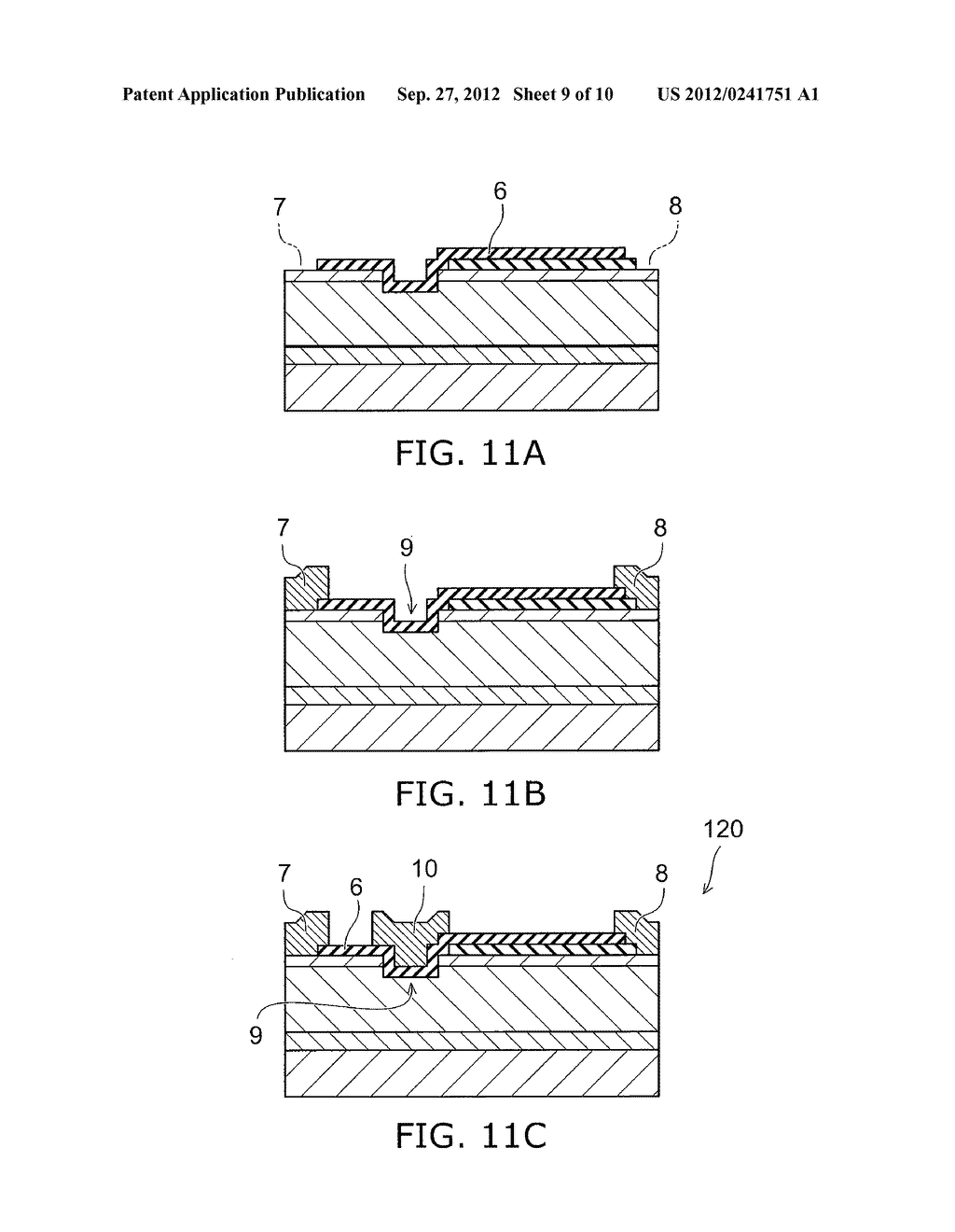 NITRIDE SEMICONDUCTOR DEVICE AND METHOD FOR MANUFACTURING SAME - diagram, schematic, and image 10