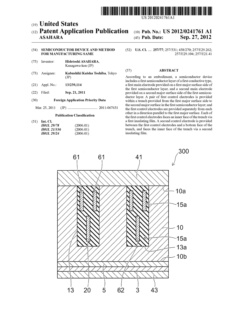 SEMICONDUCTOR DEVICE AND METHOD FOR MANUFACTURING SAME - diagram, schematic, and image 01