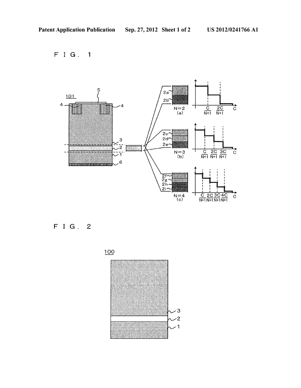 EPITAXIAL WAFER AND SEMICONDUCTOR ELEMENT - diagram, schematic, and image 02