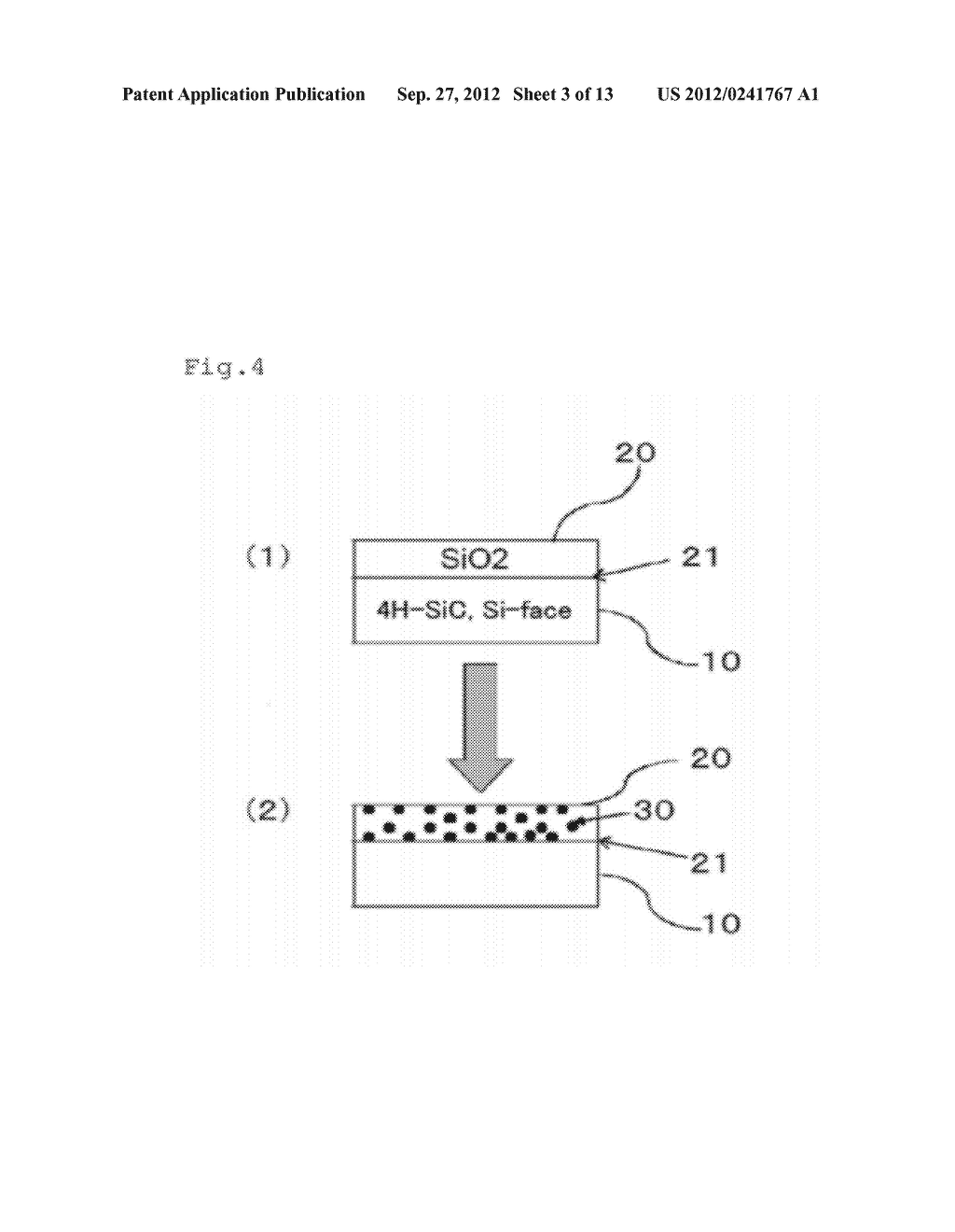 SIC SEMICONDUCTOR ELEMENT AND MANUFACTURING METHOD FOR SAME - diagram, schematic, and image 04