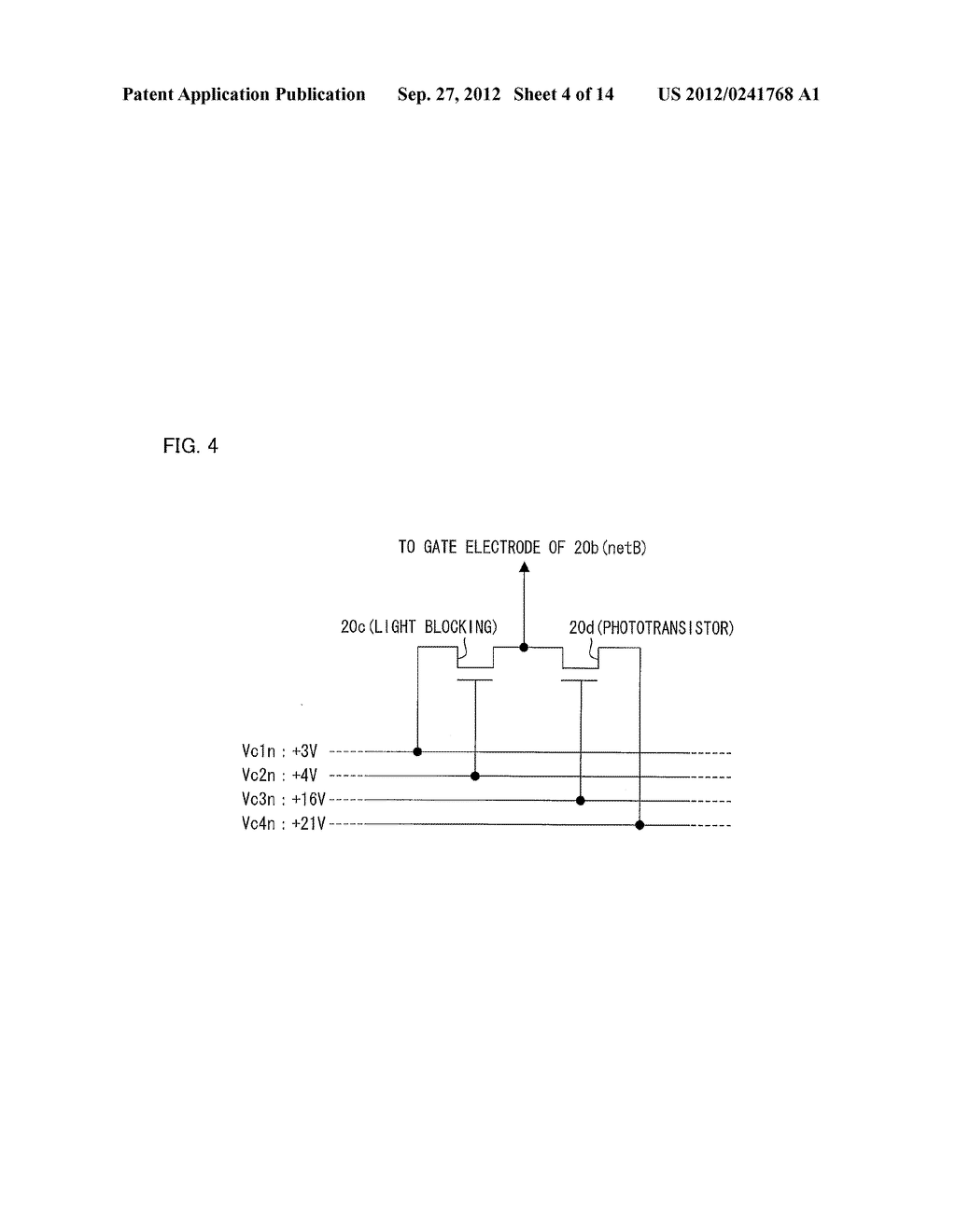 OPTICAL SENSOR CIRCUIT, DISPLAY PANEL, DISPLAY DEVICE, AND METHOD FOR     DRIVING AN OPTICAL SENSOR CIRCUIT - diagram, schematic, and image 05