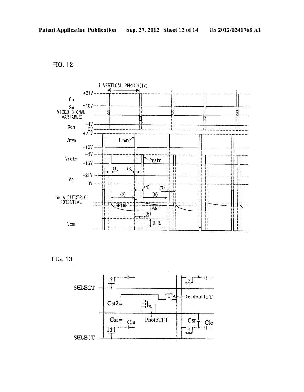 OPTICAL SENSOR CIRCUIT, DISPLAY PANEL, DISPLAY DEVICE, AND METHOD FOR     DRIVING AN OPTICAL SENSOR CIRCUIT - diagram, schematic, and image 13