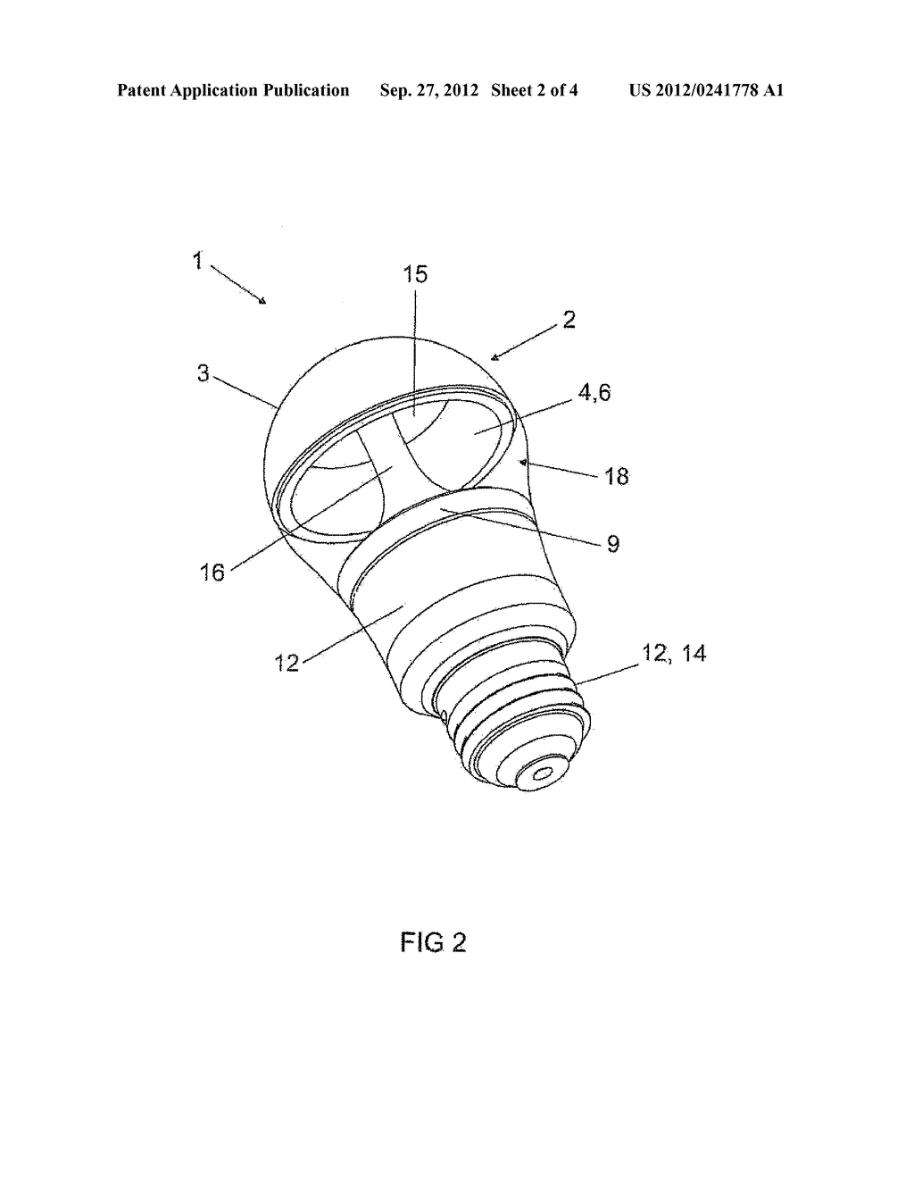 LIGHT-EMITTING DEVICE AND METHOD FOR ASSEMBLING A LIGHT-EMITTING DEVICE - diagram, schematic, and image 03