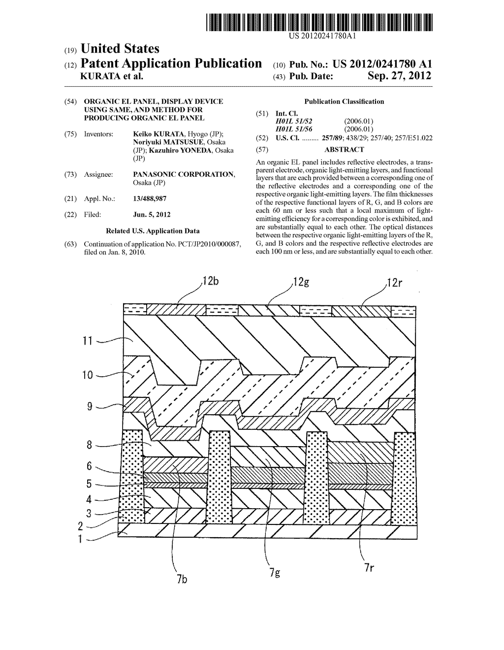 ORGANIC EL PANEL, DISPLAY DEVICE USING SAME, AND METHOD FOR PRODUCING     ORGANIC EL PANEL - diagram, schematic, and image 01