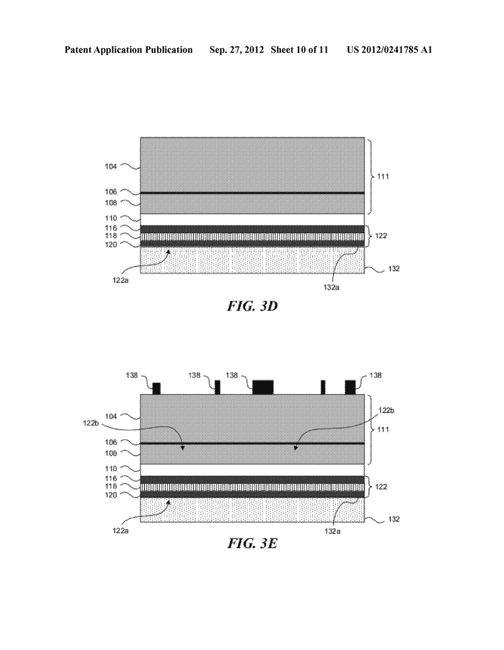 VERTICAL LIGHT EMITTING DEVICES WITH NICKEL SILICIDE BONDING AND METHODS     OF MANUFACTURING - diagram, schematic, and image 11