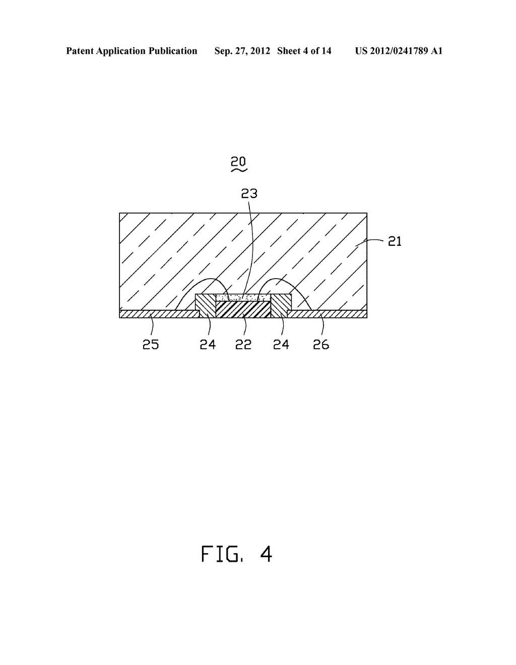 LED PACKAGE, METHOD FOR MAKING THE LED PACKAGE AND LIGHT SOURCE HAVING THE     SAME - diagram, schematic, and image 05