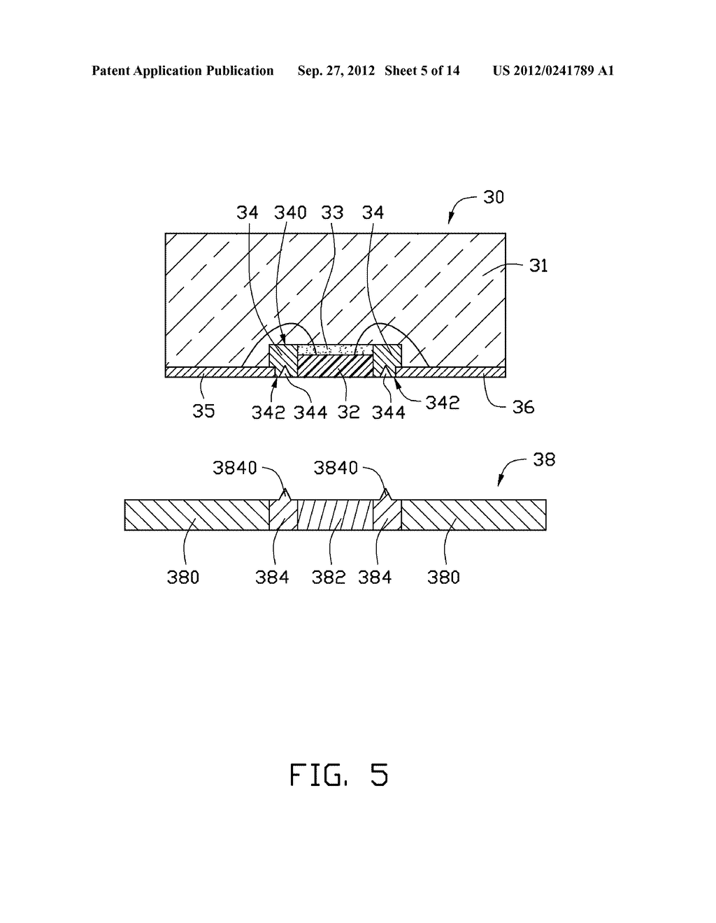 LED PACKAGE, METHOD FOR MAKING THE LED PACKAGE AND LIGHT SOURCE HAVING THE     SAME - diagram, schematic, and image 06