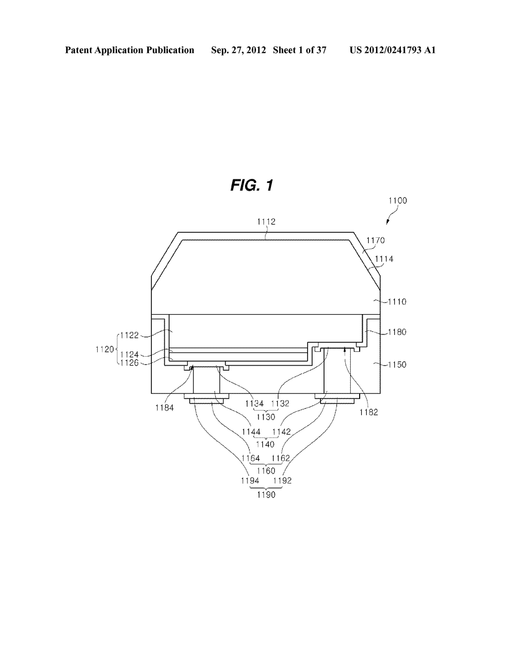 LIGHT EMITTING DIODE PACKAGE AND METHOD FOR MANUFACTURING THE SAME - diagram, schematic, and image 02