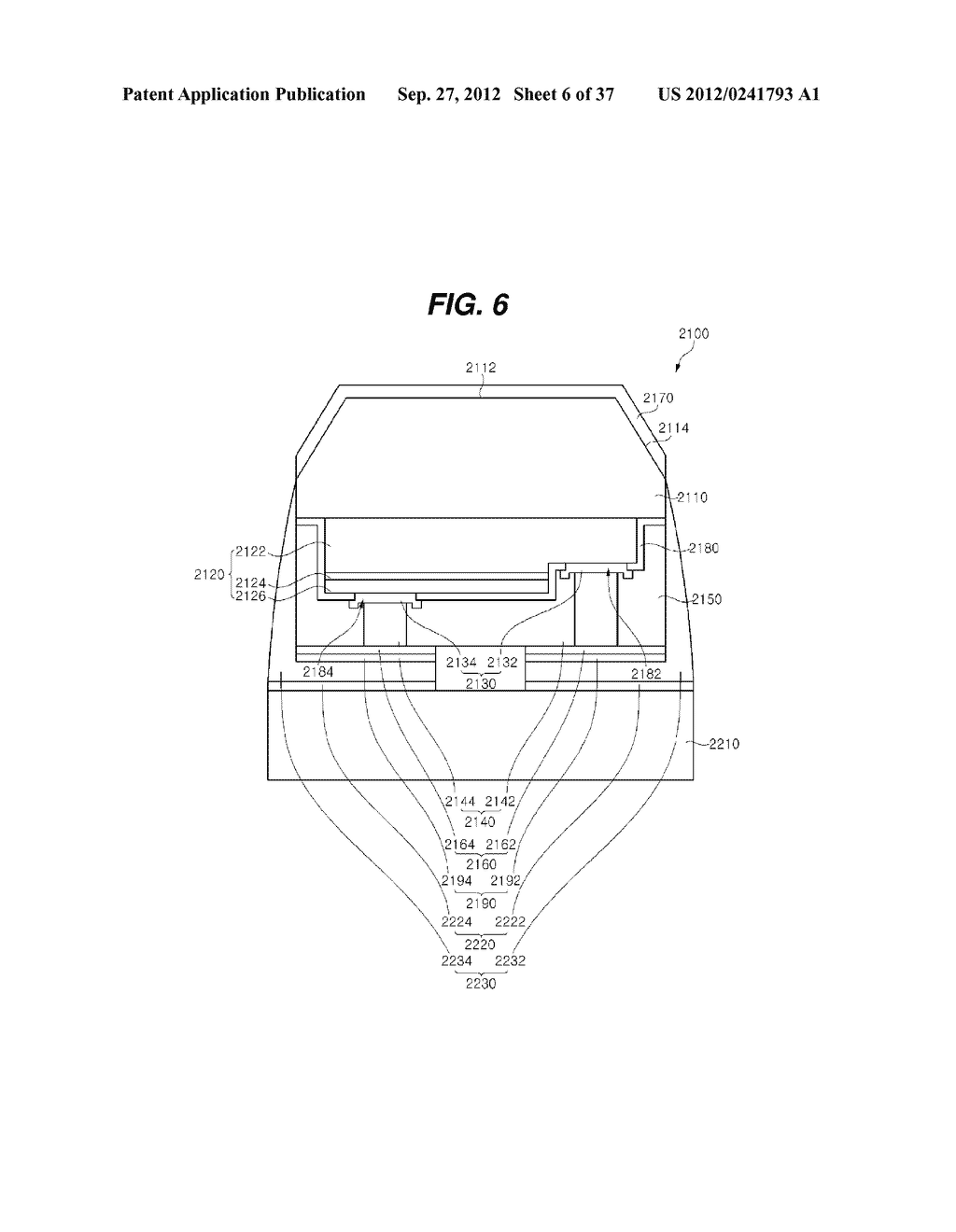 LIGHT EMITTING DIODE PACKAGE AND METHOD FOR MANUFACTURING THE SAME - diagram, schematic, and image 07