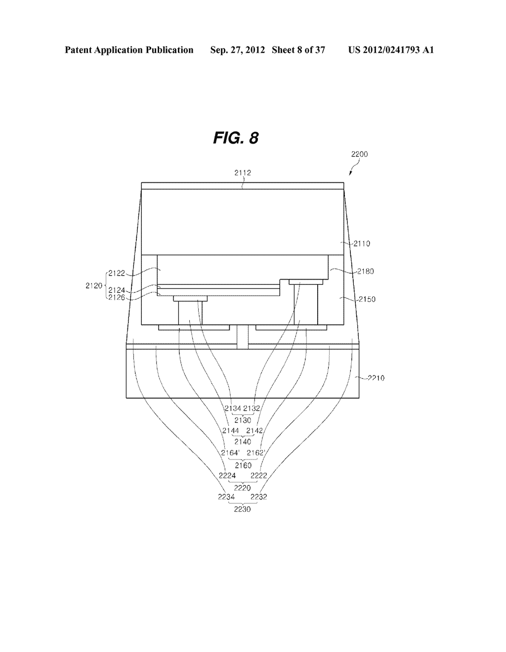 LIGHT EMITTING DIODE PACKAGE AND METHOD FOR MANUFACTURING THE SAME - diagram, schematic, and image 09
