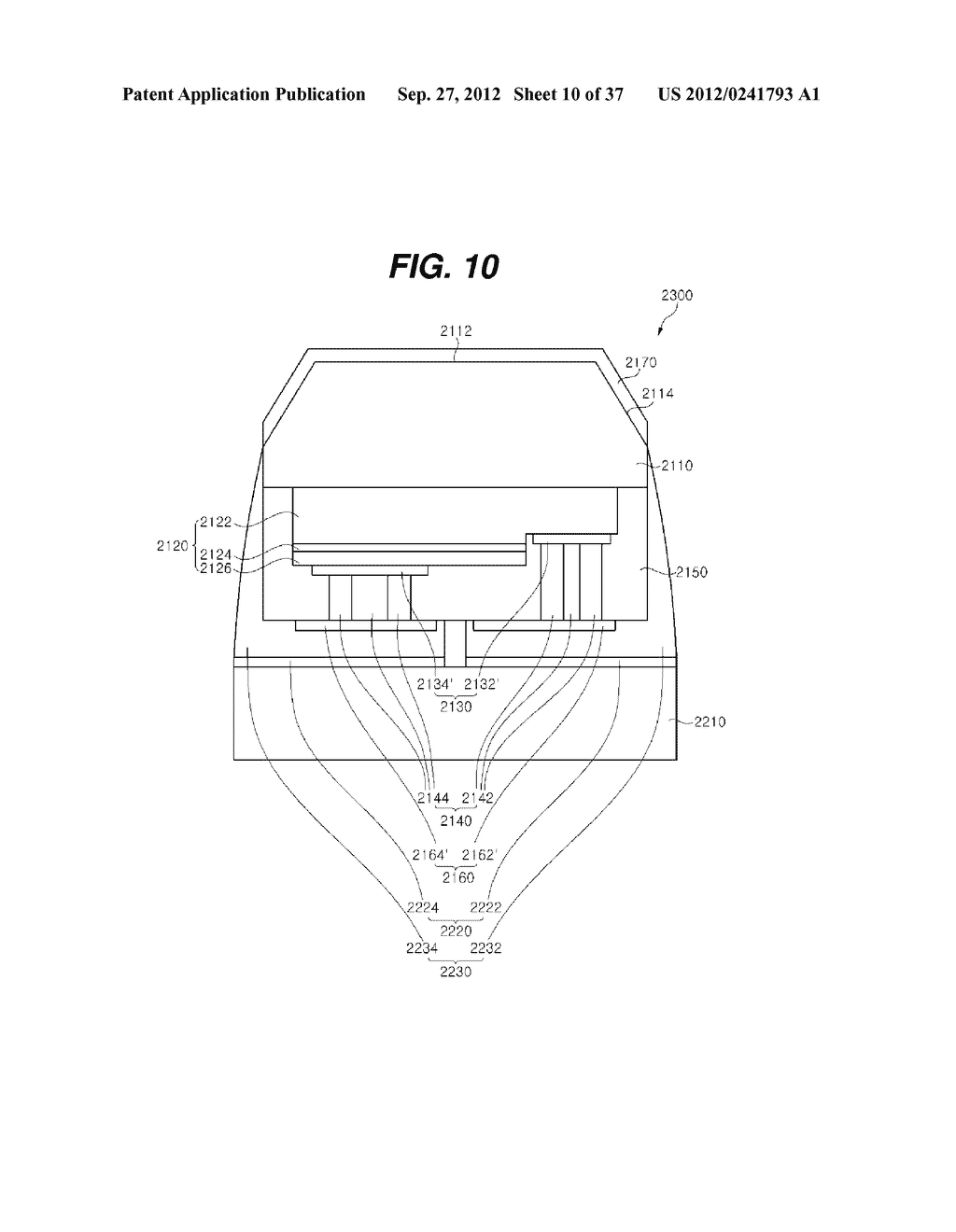 LIGHT EMITTING DIODE PACKAGE AND METHOD FOR MANUFACTURING THE SAME - diagram, schematic, and image 11